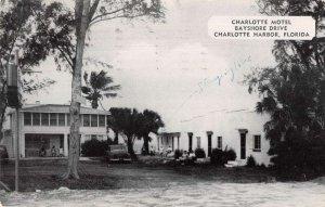 Charlotte Harbor Florida Charlotte Motel Vintage Postcard AA22638