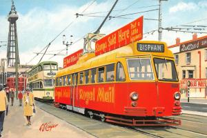 Limited Edition Postcard Blackpool Post Office Tram no.633 by G.S Cooper #982