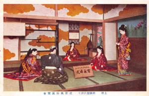 MITSUKOSHI DEPARTMENT STORE WINDOW DIORAMA~ORIENTAL~ JAPANESE POSTCARD