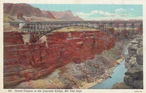 Bridge , Grand Canyon of the Colorado, 485 ft high , 1945