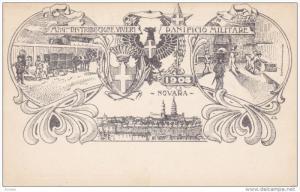 NOVARA , Piemonte , Italy , 1904 : Mag. Distribuzione Viveri Panifico Militare