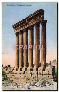 Old Postcard Baalbek Temple of Jupiter