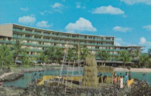 Hotel King Kamehameha, Ahuena Heiau, Kamakahonu Bay, Kailua-Kona, Big Island,...