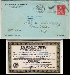 1924 Boy Scouts of America, Eagle Scout Certificate