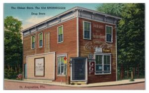 Mid-1900s The Old Speissegger Store, St. Augustine, FL Postcard
