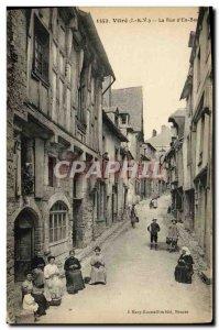 Old Postcard Glass Street from below Folklore Women