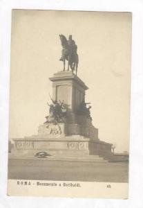 RP  Roma, Italy, Pre-1905   Monumento a Garibaldi
