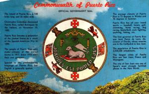 Puerto Rico Greetings Official Government Seal