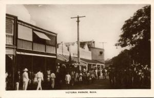 fiji islands, SUVA, Victoria Parade (1930s) RPPC