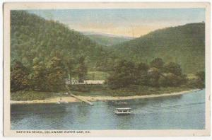 Bathing Beach Delaware Water Gap PA 1919