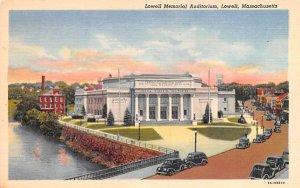 Lowell Memorial Auditorium Massachusetts Postcard