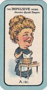 Carreras Small Vintage Cigarette Card The Nose Game No A6 The Impulsive Nose ...