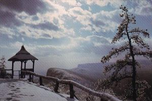A Winter View Of The Trappas Ridge From Eagle Cliff Mohonk Mountain House Lak...