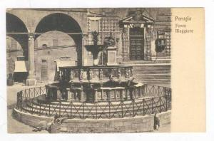 View of Fonte Maggiore & Street,Perugia,Italy 1900-10s