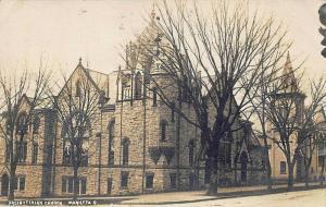 Marietta OH Presbyterian Church in 1910 Real Photo Postcard