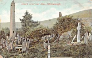 GLENDALOUGH WICKLOW IRELAND~ANCIENT ROUND TOWER~LAWRENCE PUBLISHED POSTCARD