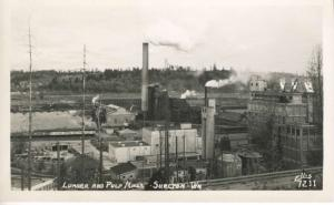 Lumber & Pulp Mills Shelton Washington WA Ellis 7211 RPPC Postcard E9