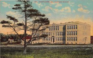 Portland Maine~Clifford School Building & Grounds~c1910 Postcard