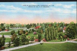 Kentucky LEXINGTON View of Idle Hour Farm - LINEN
