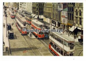 tm6037 - Trams at Manchester Piccadily,1001/121 - Artist - G.S.Cooper - postcard