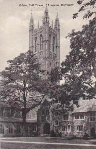 New Jersey Princeton Holder Hall Tower Princeton Univers Albertype