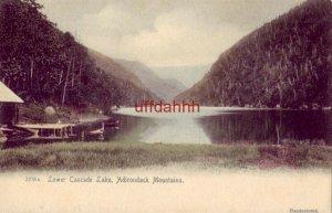 PRE-1907 LOWER CASCADE LAKE, ADIRONDACK MOUNTAINS, NY