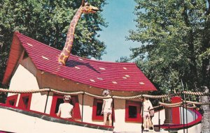 MONTREAL, Quebec, Canada, 1950-1960's; Parc Lafontaine, Boat With A Giraffe's...