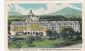 Virginia Roanoke Hotel Roanoke Curteich 1950 Curteich