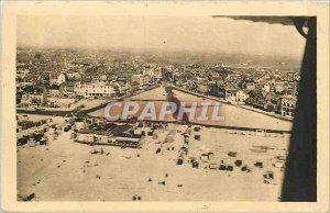 Old Postcard Berck Plage Funnel seen in Airplane