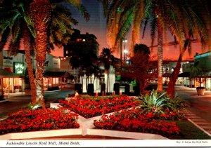Florida Miami Beach Fashionable Lincoln Road Mall