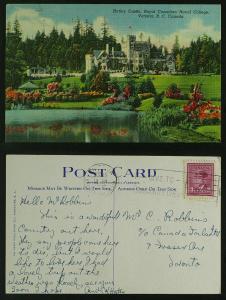 Hatley Castle Royal Canadian Naval College  Victoria linen
