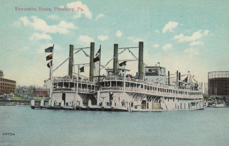 PITTSBURG , Pennsylvania, 1900-10s ; Excursion Boats