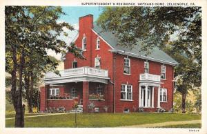 Zelienople Pennsylvania Orphans Home Superintendent Antique Postcard K12460