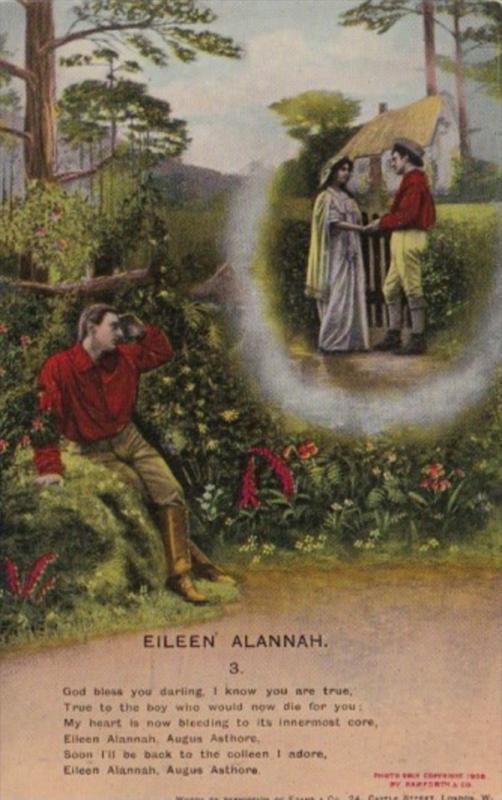 Bamforth Romantic Couple Eileen Alannah No 3