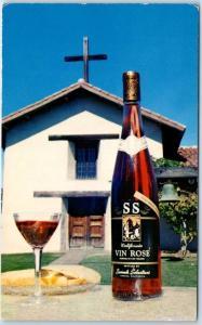 Sonoma CALIFORNIA WINE Postcard Sebastiani Winery SS Wines c1960s Unused