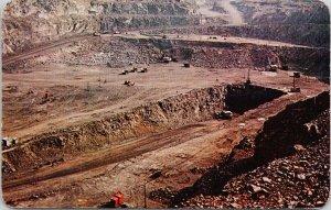 Frood Stobie Open Pit Mine Sudbury ON Ontario Ore Mining Unused Postcard F57