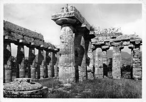 Italy Paestum Interno Basilica Ruins Basilique