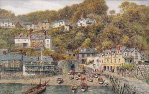 England Clovelly From The Quay Showing Red Lion Hotel