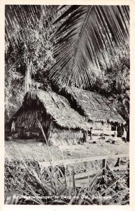 Berg en Dal Suriname Bosnegerwoningen Real Photo Antique Postcard J67931