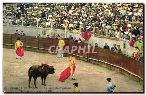 Old Postcard Bullfight Bullfight The death of the bull Entranda a matar