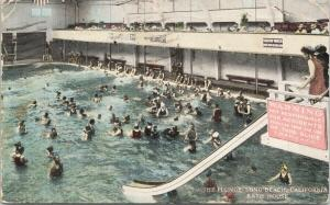 The Plunge Long Beach CA Bath House California c1920 Postcard F7