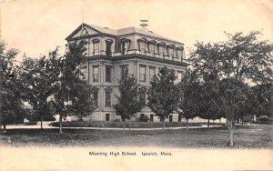 Manning High School Ipswich, Massachusetts Postcard