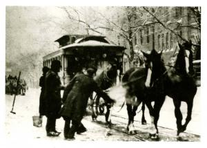 NY - New York City. 14th Street Horsecar, Circa 1895 (Card is from 1990's)