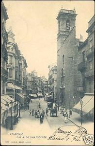 spain, VALENCIA, Calle de San Vicente (1902) Stamp