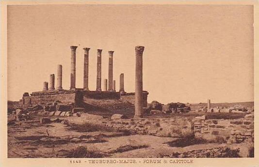 Tunisia Thuburbo-Majus Forum & Capitole