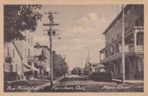 FARNHAM , Quebec , Canada , 1910-20s ; Rue Principale