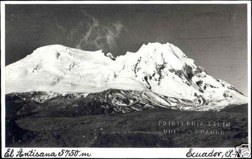 ecuador, El Antisana Volcano, Andes (1940s) RPPC