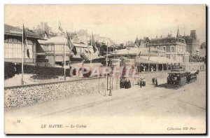 Old Postcard Le Havre Casino Tram