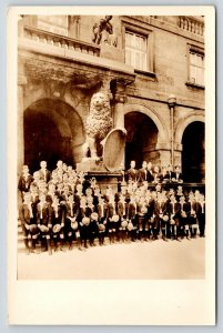 Dresden Saxony Germany~Town Hall~Boys Choir by Lion~Chicago Concert 1935 RPPC
