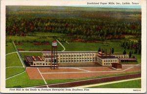 Lufkin Texas~Southland Paper Mills~Southern Pine Newsprint Factory~1939 Linen PC